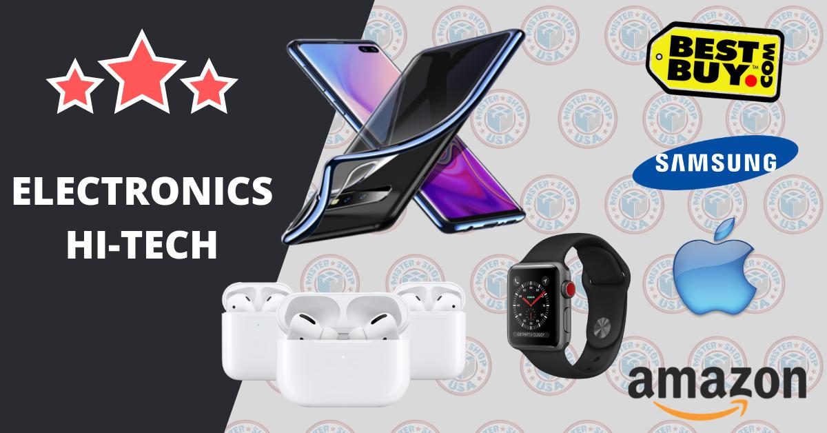 liste de boutique Américaine pour acheter du matériel multimédia, apple et électronique